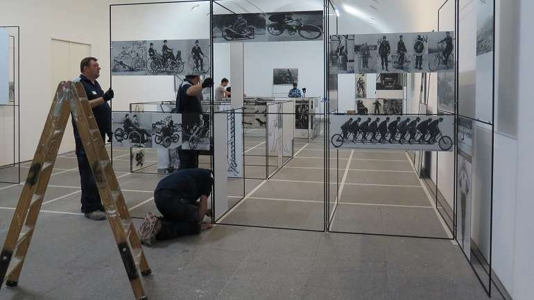 View of the installation Man, Machine & Motion in the museum's galleries