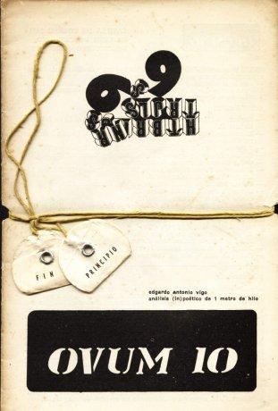 Tapa de OVUM 10 nº 4, Montevideo, septiembre de 1970. Análisis (in) poético de 1 metro de hilo de Edgardo Antonio Vigo. Archivo Clemente Padín (UDELAR, Montevideo)