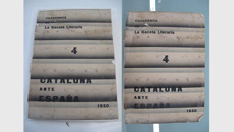 Después y antes del proceso de restauración de la revista Gaceta literaria