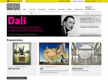 Home de la web del Museo Reina Sofía